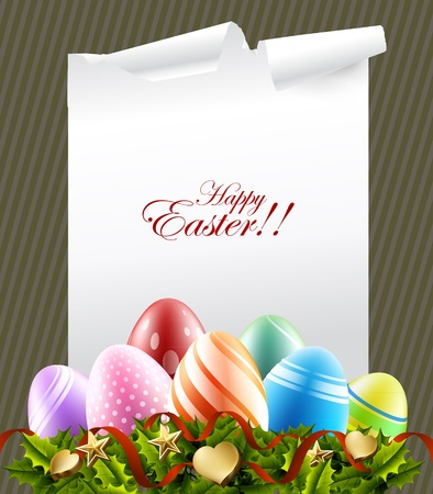 easter decorations: easter eggs background