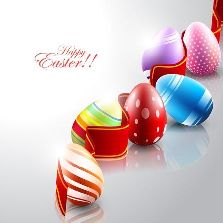 huevo caricatura: Los huevos de Pascua de fondo Vectores