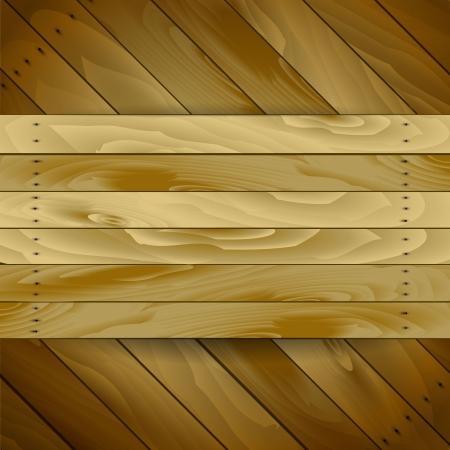 wooden plaque: wood pattern Illustration