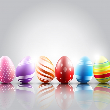 easter eggs background  Bitmap copy from my vector Stock Photo