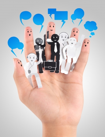 smile fingers for symbol of social network