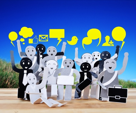 smile human for symbol of social network Stock Photo - 18737551