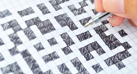 Writing crossword Stock Photo