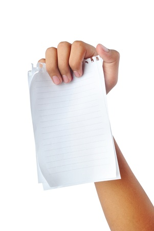 hand holding blank papers Stock Photo - 19059794