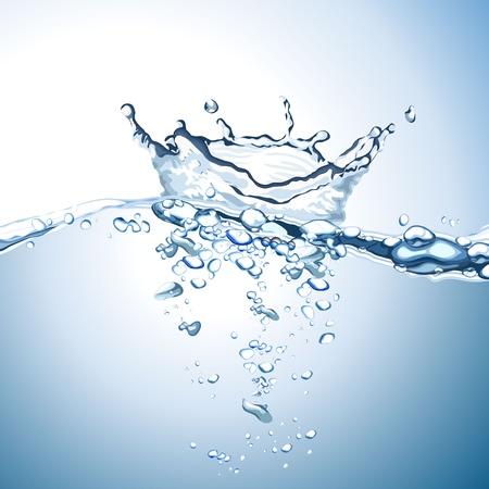 splash color: Onda di acqua e spruzzi sfondo Vettoriali