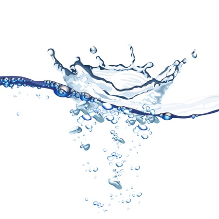 Water wave and splash background Vector