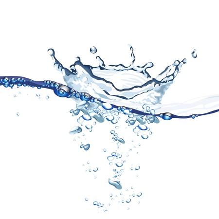 organic spa: Water wave and splash background