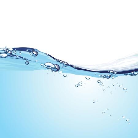 Fondo de la onda de agua