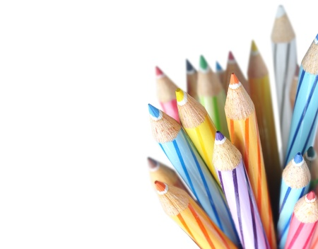 colo: Color pencils isolated on white background