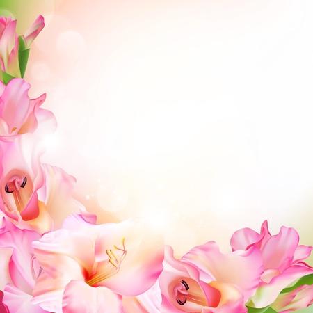 Beautiful pink flower Illusztráció
