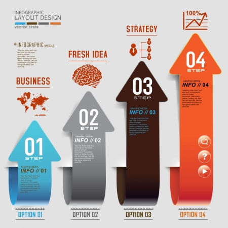 Modern business design for template, infographic, website, symbol Stock Illustratie