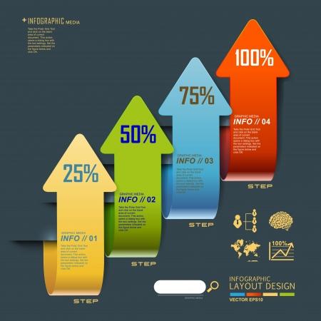 Современный дизайн шаблона для бизнеса, инфографики, сайт, символ Иллюстрация