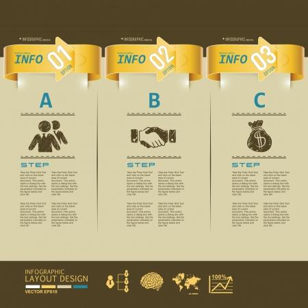 템플릿, 인포 그래픽, 웹 사이트, 기호 현대 비즈니스 디자인