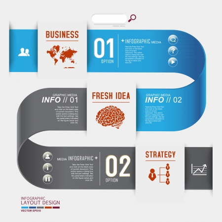 Modern business design for template, infographic, website, symbol Illustration