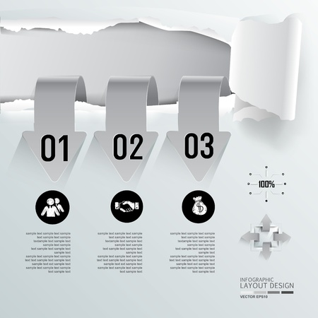 Modern business design for template, infographic, website, symbol Vector