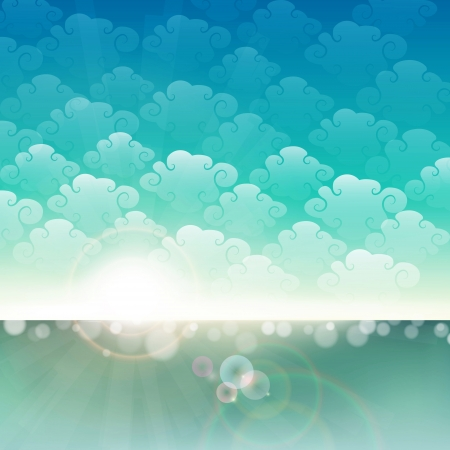 Seaside background  can be a summer background  Vector