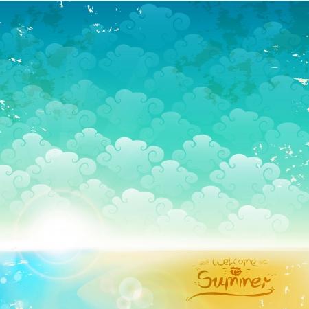 빈티지 해변 배경 여름 배경이 될 수 있습니다