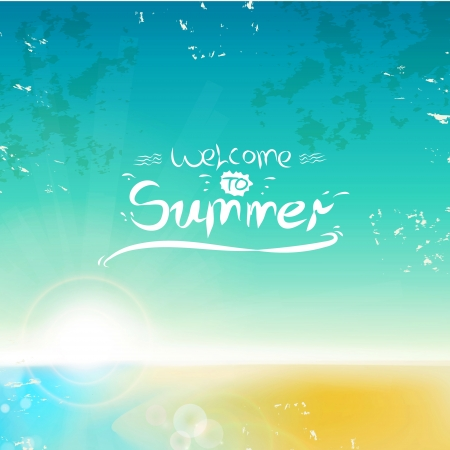 Vintage seaside background  can be a summer background  Vector