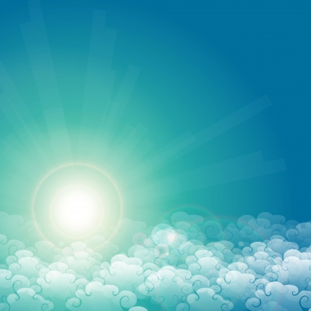 Cloud, sky, and sunlight  Vector