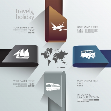 Abstract globe travel   holiday transportation element template  Vector