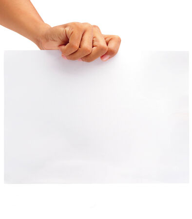 hand holding a piece of paper photo
