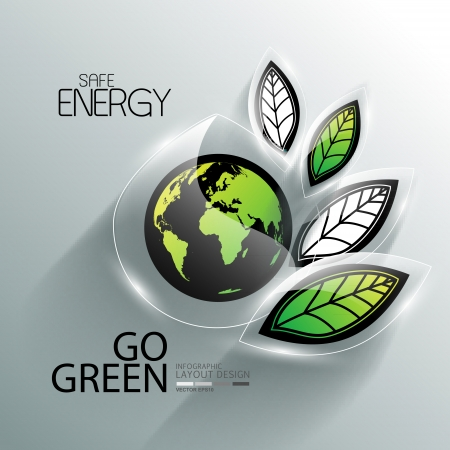 Infographic for nature and go green  Vector