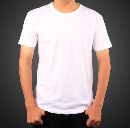 White t-shirt template photo