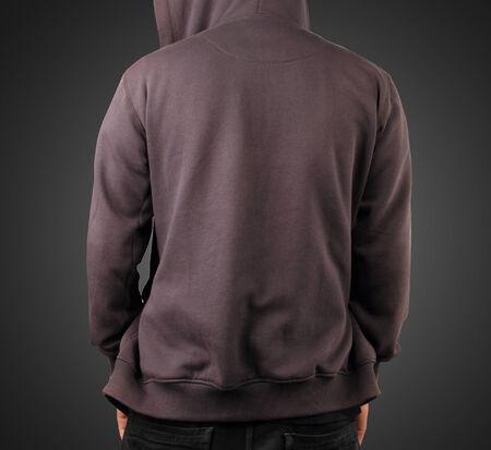 Sweatshirt template  Back sweatshirt concept photo