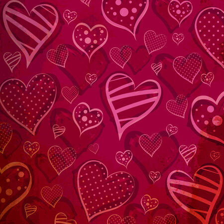 Valentines Day pattern background  With retro and old color  Vector eps10 Vector