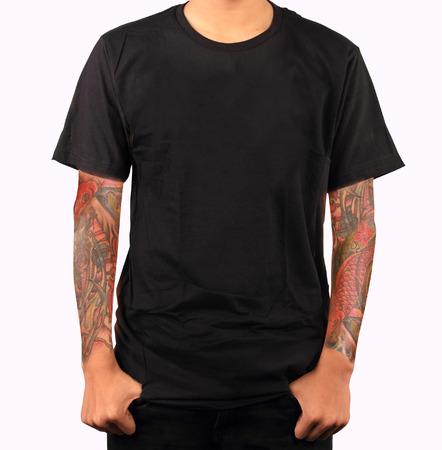 modelos hombres: t-shirt plantilla Foto de archivo