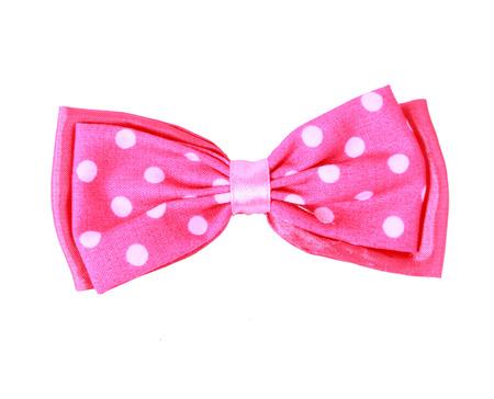 moño rosa: pajarita rosada