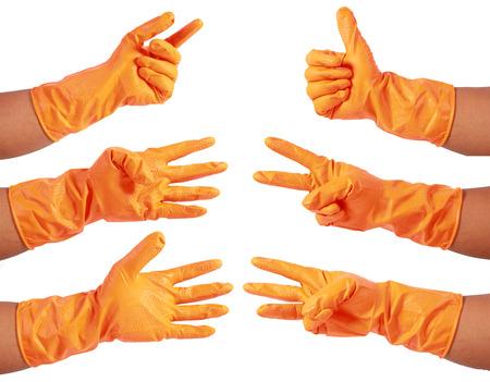 attractive hands in glove photo