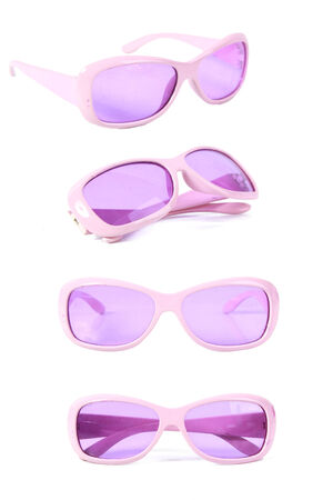 pink eyeglass photo