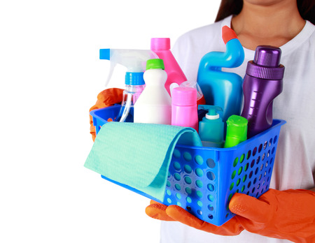 bioclean: portrait of cleaning equipment isolated over white background