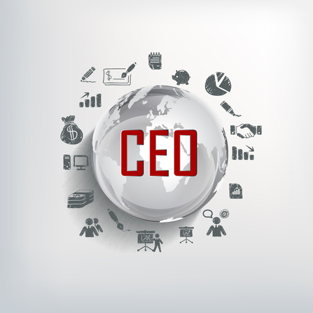 ceo: Modern business CEO design template