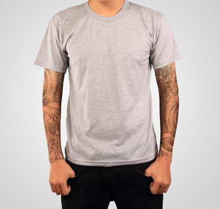 グレーの t シャツ テンプレート