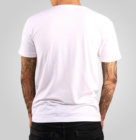 Blanco Modelo de la camiseta Foto de archivo - 28801036