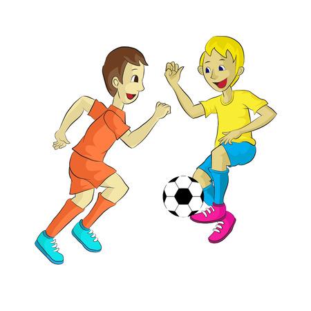 adolescente jugando al fútbol