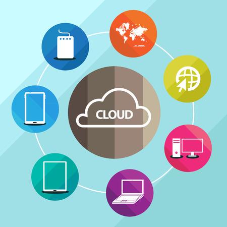 cloud computing jigsaw Vector