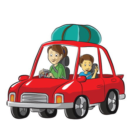 female driver: travelling with family