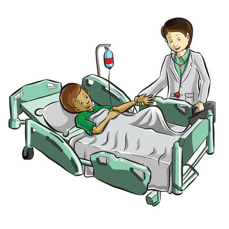 boy doctor: doctor helping patient