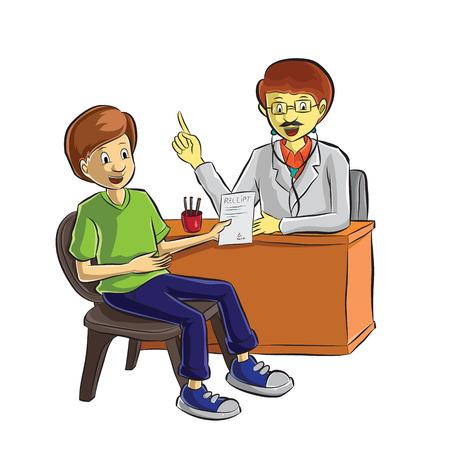 doctor helping patient