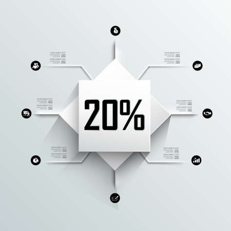 modern info graphic design with percent progress icon Vector
