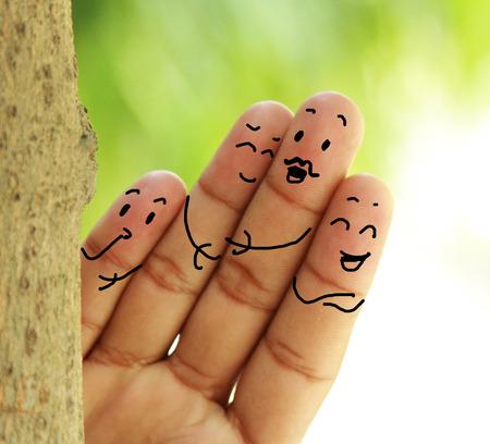 幸せな家族 写真素材