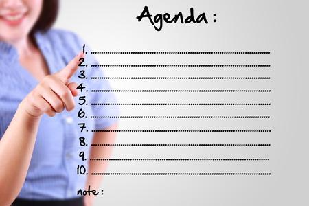 designate: business woman designate agenda list