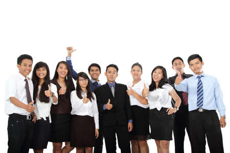 happy people: happy of business people in success