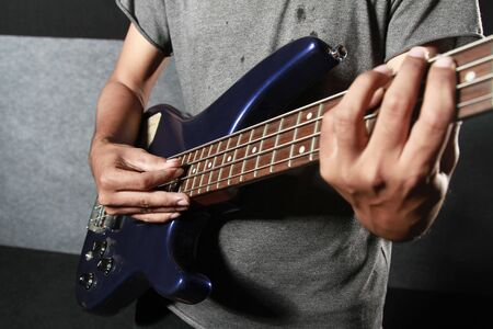 hand playing guitar electric photo