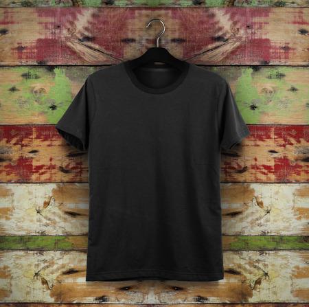 black t shirt: t-shirt template