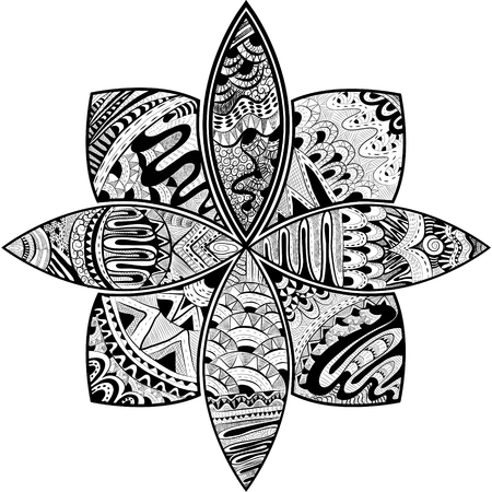 streckbilder: abstrakt mönster bakgrund. line art koncept