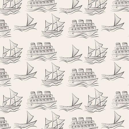 pattern background: ship pattern background Illustration